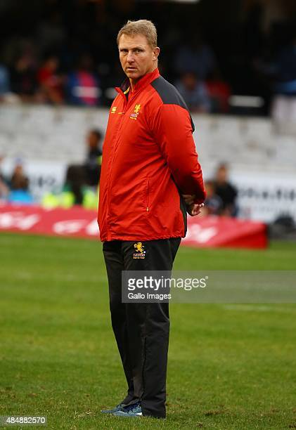 Johan Ackermann Golden Lions during the Absa Currie Cup match between Cell C Sharks and Xerox Golden Lions at Growthpoint Kings Park on August 22...