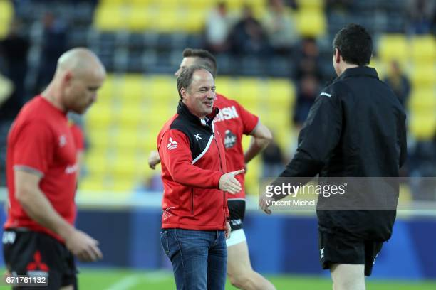 Johan Ackermann headcoach of Gloucester during the European Challenge Cup semi final between La Rochelle and Gloucester on April 22 2017 in La...