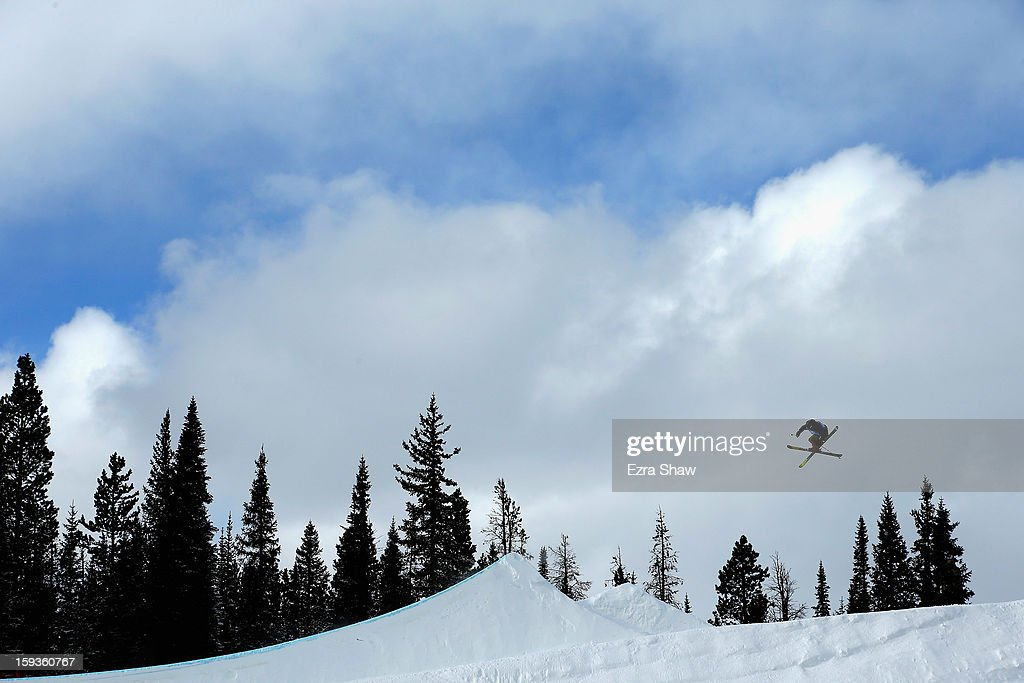 Johan Berg of Norway competes in the FIS Freestyle Ski World Cup men's slope style final at the U.S. Grand Prix on January 12, 2013 in Copper Mountain, Colorado.