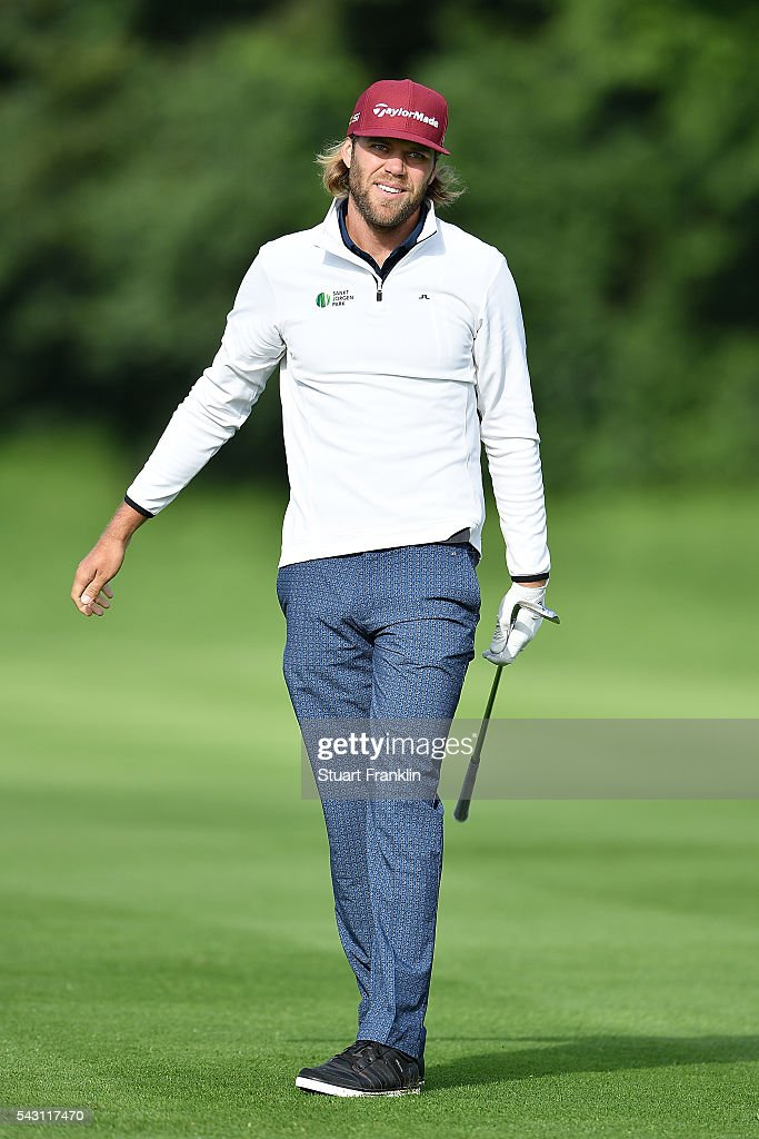 Johan Carlsson of Sweden looks on during the rain delayed third round of the BMW International Open at Gut Larchenhof on June 26, 2016 in Cologne, Germany.