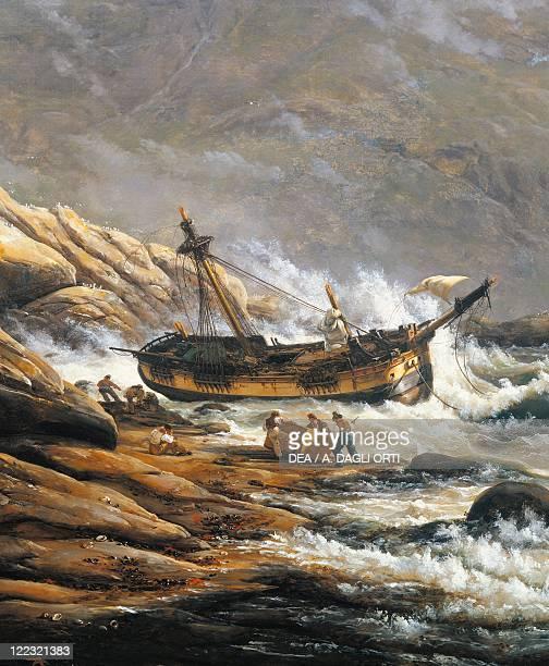 Johan Christian Claussen Dahl Shipwreck in a Norwegian Fjord