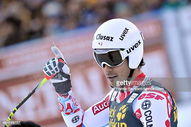 Johan Clarey of France takes 3rd place during the Audi FIS Alpine Ski World Cup Men's Downhill on December 21 2013 in Val Gardena Italy