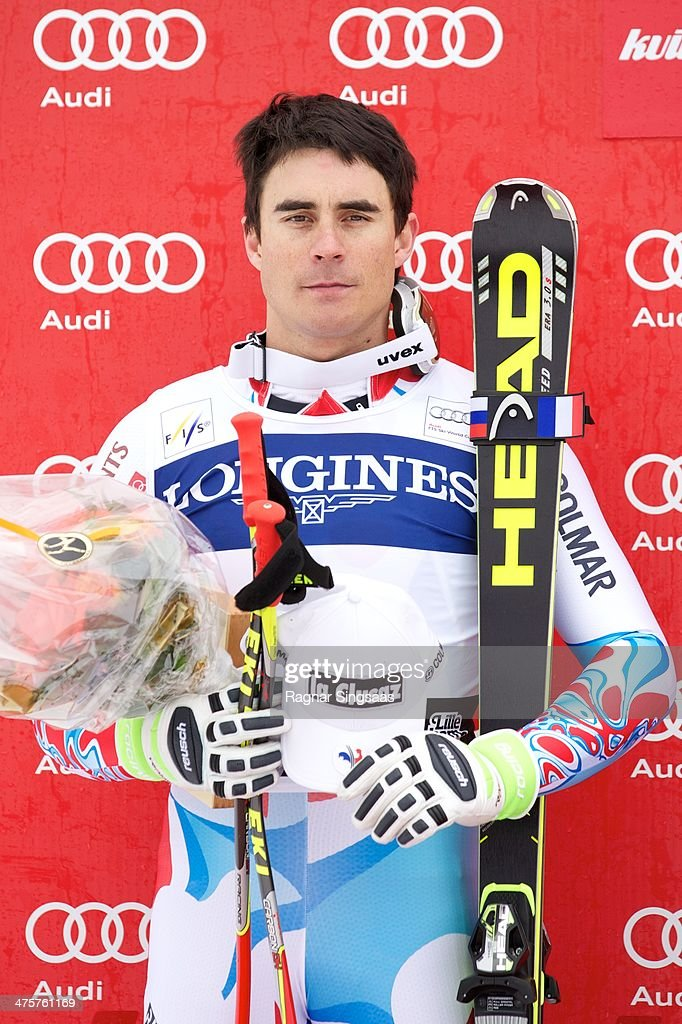 <a gi-track='captionPersonalityLinkClicked' href=/galleries/search?phrase=Johan+Clarey&family=editorial&specificpeople=4051720 ng-click='$event.stopPropagation()'>Johan Clarey</a> of France takes second place during the Audi FIS Alpine Ski World Cup Men's Downhill on March 1, 2014 in Ringebu, Norway.