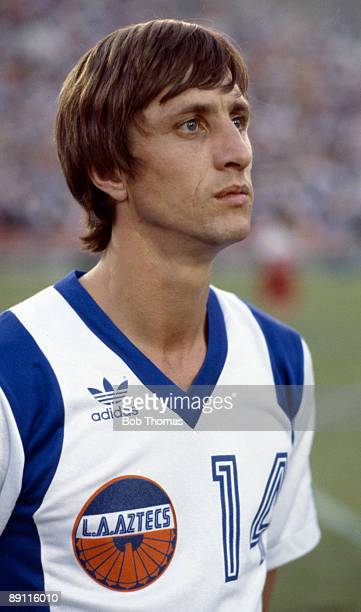 Johan Cruyff of the Los Angeles Aztec's before a match in Los Angeles USA in 1979