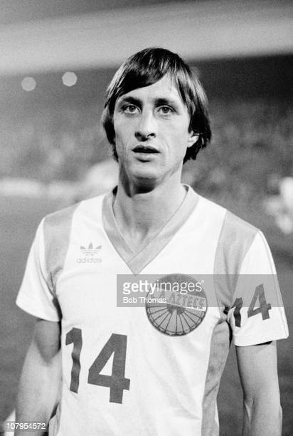Johan Cruyff of the Los Angeles Aztecs before the Birmingham City v Los Angeles Aztecs friendly match played at St Andrews Birmingham 15th October...