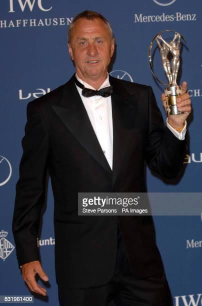 Johan Cruyff winner of the Laureus Lifetime Achievement Award during the Laureus World Sports Awards 2006 at the Parc del Forum Barcelona Spain