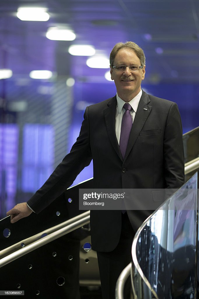 Johan De Nysschen, president of Infiniti for Nissan Motor Co., poses for a photograph in Hong Kong, China, on Tuesday, Feb. 19, 2013. Nissan Motor Co.'s luxury Infiniti unit said it's targeting to turn profitable in the next three- to-four years as it begins production in China and introduces entry-level vehicles to attract customers. Photographer: Jerome Favre/Bloomberg via Getty Images