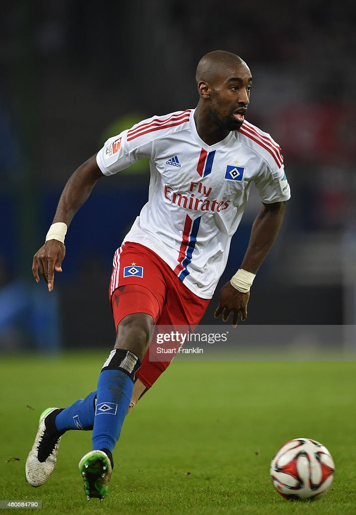 Johan Djourou of Hamburg in action during the Bundesliga match between Hamburger SV and VfB Stuttgart at Imtech Arena on December 16, 2014 in Hamburg, Germany.