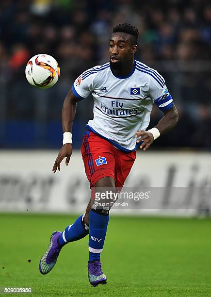 Johan Djourou of Hamburg in action during the Bundesliga match between Hamburger SV and 1 FC Koeln at Volksparkstadion on February 7 2016 in Hamburg...