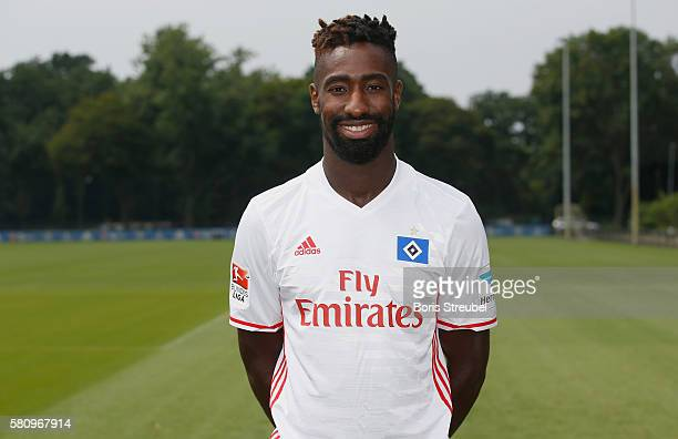 Johan Djourou of Hamburger SV poses during the Hamburger SV Team Presentation at Volksparkstadion on July 25 2016 in Hamburg Germany