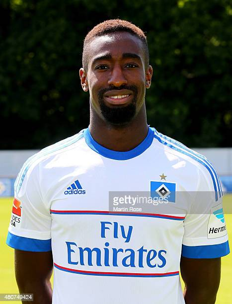 Johan Djourou of Hamburger SV poses during the team presentation of Hamburger SV at Volksparkstadion on July 15 2015 in Hamburg Germany