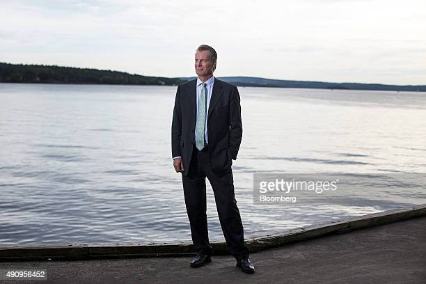 Johan H Andresen billionaire and owner of Ferd AS poses for a photograph outside his company headquarters in Oslo Norway on Thursday Oct 1 2015...