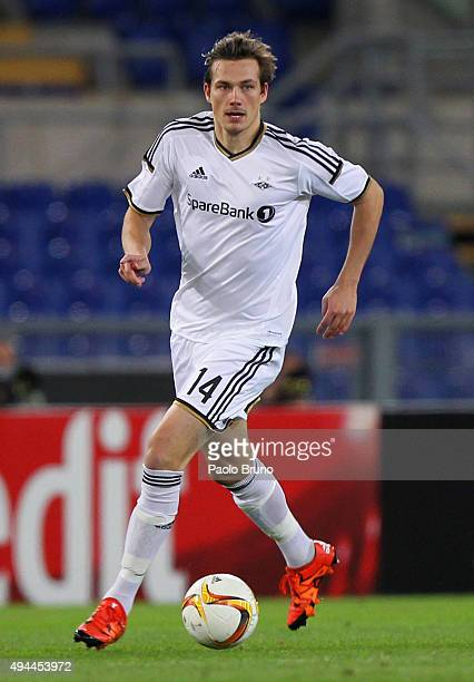 Johan Laedre Bjerdal of Rosenborg BK in action during the UEFA Europa League group G match between SS Lazio and Rosenborg BK at Stadio Olimpico on...