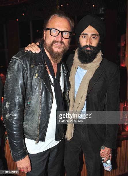 Johan Lindeberg and Waris Ahuwalia attend NOWNESS Presents the New York Premiere of JeanMichel Basquiat The Radiant Child at MoMa on April 27 2010 in...