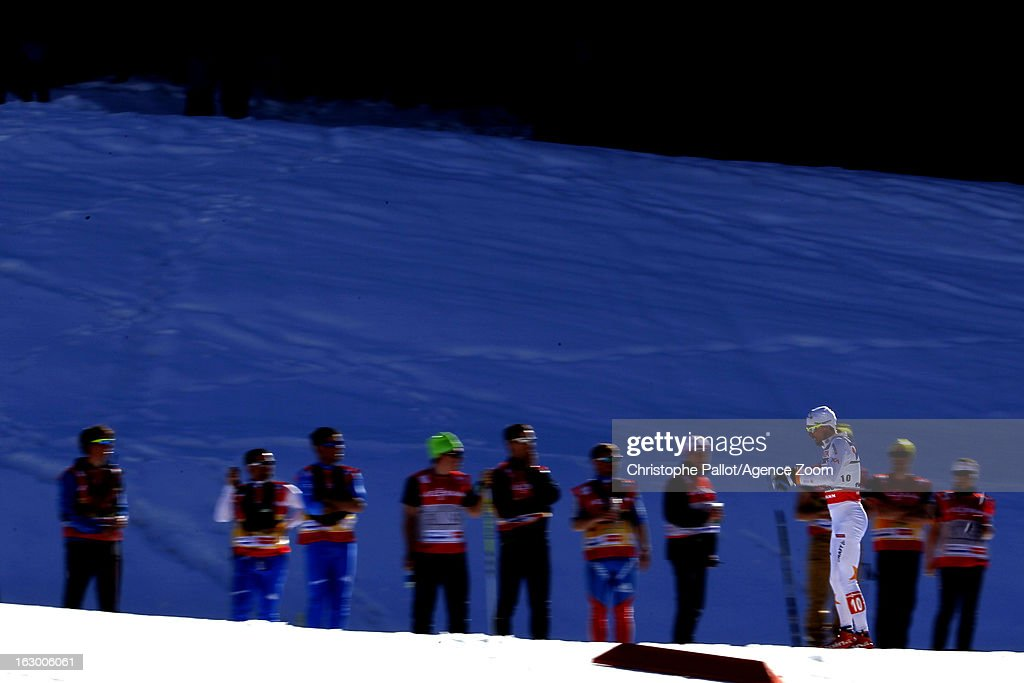 Johan Olsson of Sweden takes the gold medal competes during the FIS Nordic World Ski Championships Cross Country Men's Mass Start on March 03, 2013 in Val di Fiemme, Italy.