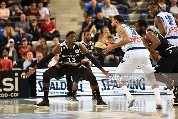 Johan Passave Ducteil of Dijon during the Pro A match between Antibes sharks and JDA Dijon on November 4 2016 in Antibes France