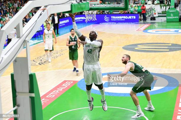 Johan Passave Ducteil of Nanterre during the Basketball Champions League match between Nanterre 92 and Sidigas Avellino on October 18 2017 in...