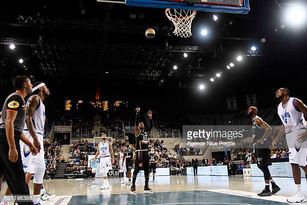 Johan PassaveDucteil of Dijon during the Pro A match between Antibes sharks and JDA Dijon on November 4 2016 in Antibes France