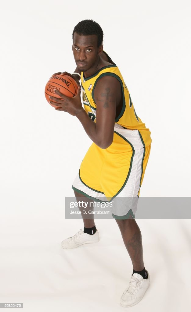 Johan Petro #27 of the Seattle SuperSonics poses for a photo during his NBA Rookie Photo Shoot on September 16, 2005 at IBM Palisades in Palisades, New York.