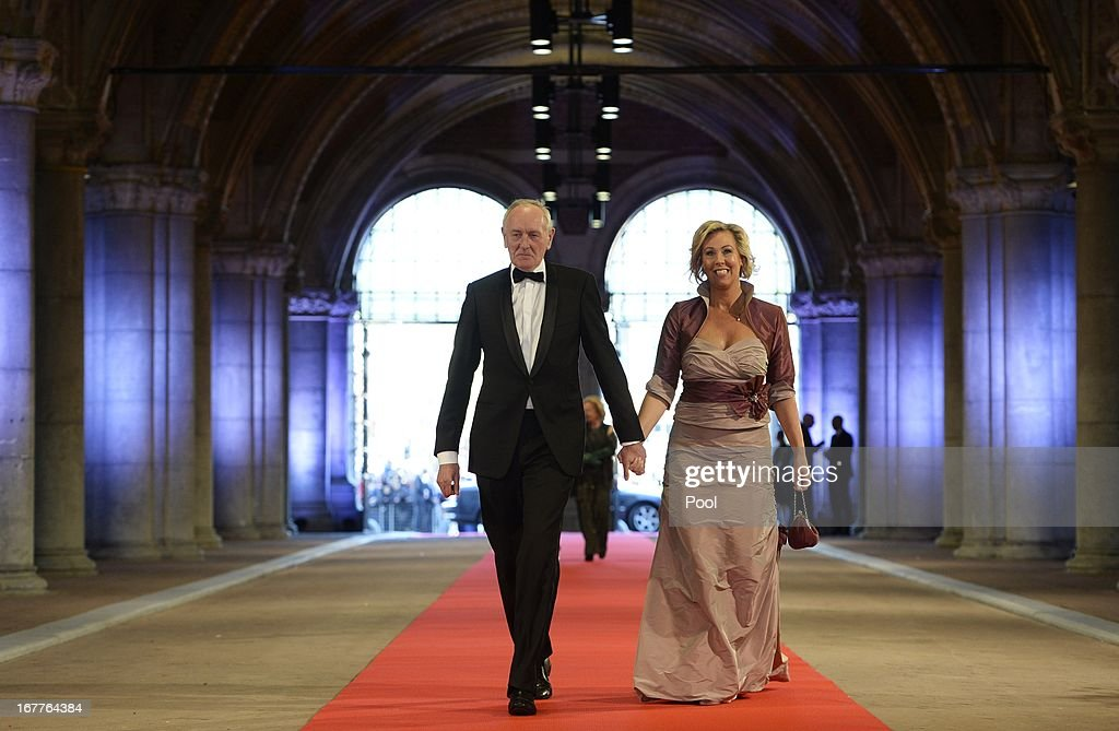 Johan Remkes and his wife arrive at a dinner hosted by Queen Beatrix of The Netherlands ahead of her abdication at Rijksmuseum on April 29, 2013 in Amsterdam, Netherlands.
