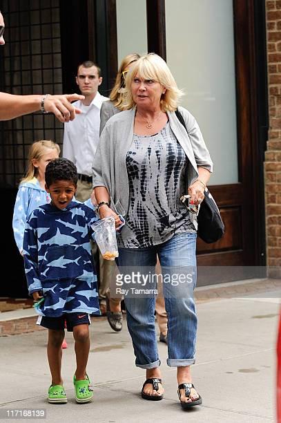 Johan Samuel and Erna Klum leave a Tribeca hotel on June 23 2011 in New York City