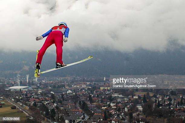 Johann Andre Forfang of Norway competes during the FIS Nordic World Cup Four Hills Tournament on January 1 2016 in GarmischPartenkirchen Germany