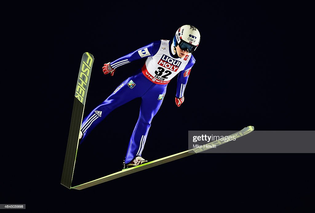 Johann Andre Forfang of Norway competes during the Men's HS134 Large Hill Ski Jumping Final during the FIS Nordic World Ski Championships at the...