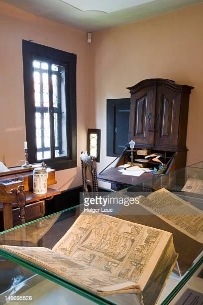 Johann Sebastian Bach's composing studio in Bachhaus Bach House Museum.