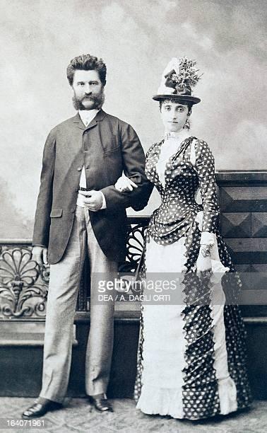 Johann Strauss Austrian composer and conductor with his third wife Adele Vienna Historisches Museum Der Stadt Wien