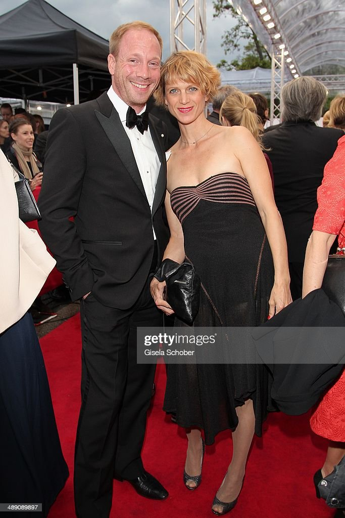 Johann von Buelow and his wife Katrin attend the Lola - German Film Award 2014 at Tempodrom on May 9, 2014 in Berlin, Germany.