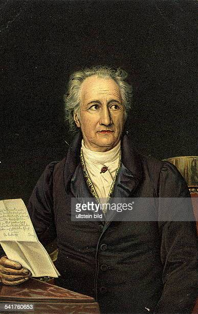 Johann Wolfgang von Goethe Johann Wolfgang von Goethe *2808174922031832 Writer poet Germany portrait of Goethe at age 79 1828/29 Identical with image...