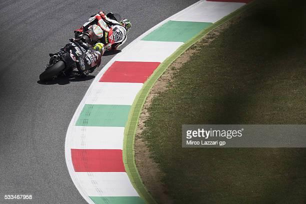 Johann Zarco of France and Ajo Motorsport leads Lorenzo Baldassarri of Italy and Forward Team during the Moto2 race during MotoGp of Italy Race at...