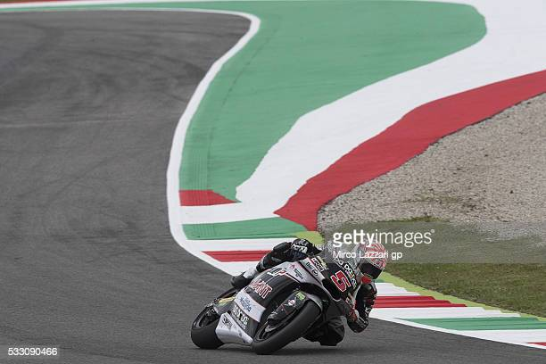 Johann Zarco of France and Ajo Motorsport rounds the bend during the MotoGp of Italy Free Practice at Mugello Circuit on May 20 2016 in Scarperia...