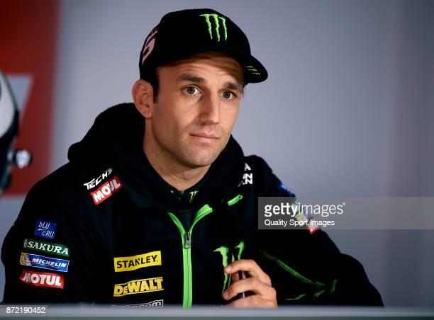 Johann Zarco of France and Monster Yamaha Tech 3 during the MotoGP of Valencia Previews at Comunitat Valenciana Ricardo Tormo Circuit on November 9...