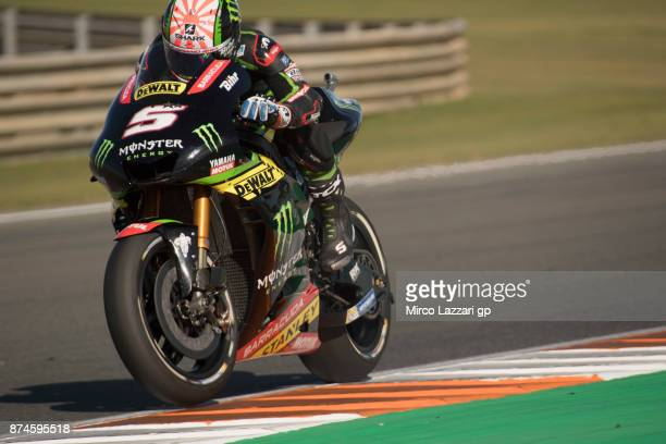 Johann Zarco of France and Monster Yamaha Tech 3 heads down a straight during the MotoGP Tests In Valencia day 2 at Comunitat Valenciana Ricardo...
