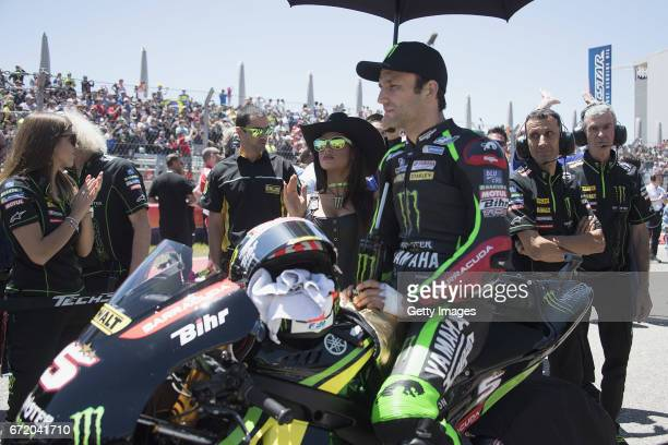 Johann Zarco of France and Monster Yamaha Tech 3 prepares to start on the grid during the MotoGP race during the MotoGp Red Bull US Grand Prix of The...
