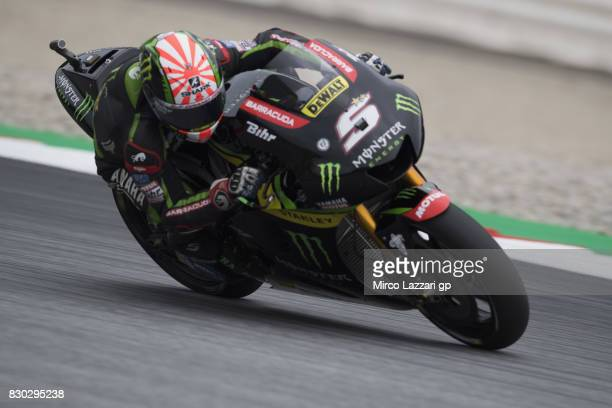 Johann Zarco of France and Monster Yamaha Tech 3 rounds the bend during the MotoGp of Austria Free Practice at Red Bull Ring on August 11 2017 in...