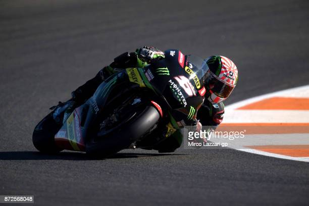 Johann Zarco of France and Monster Yamaha Tech 3 rounds the bend during the Comunitat Valenciana Grand Prix Moto GP Previews at Comunitat Valenciana...