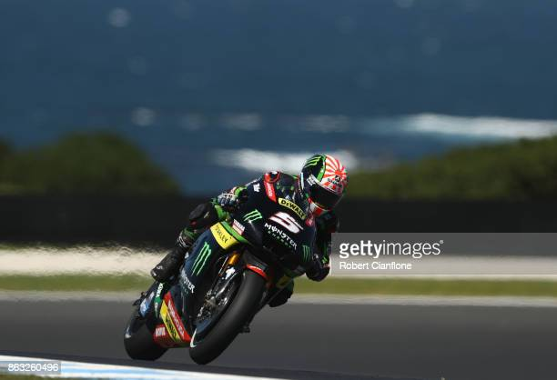 Johann Zarco of France rides the MONSTER YAMAHA TECH 3 Yamaha during free practice for the 2017 MotoGP of Australia at Phillip Island Grand Prix...