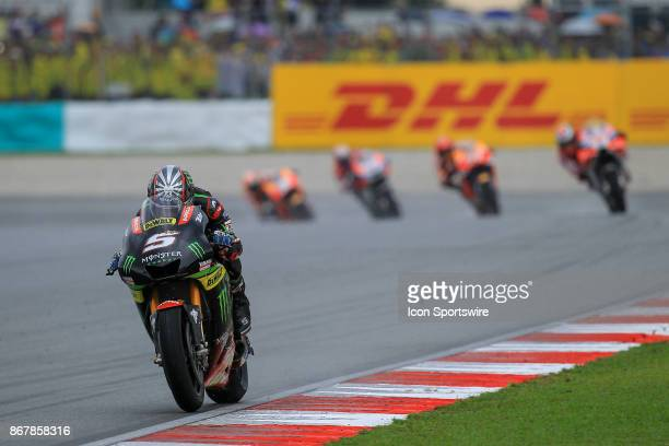 Johann Zarco of Monster Yamaha Tech 3 in action during the MotoGP race of the Malaysian Motorcycle Grand Prix on October 29 2017 at Sepang...