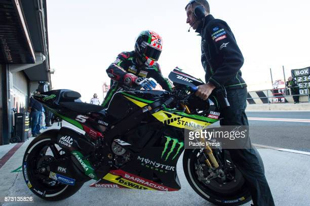 Johann Zarco start from pit during qualifying session at Valencia Motogp