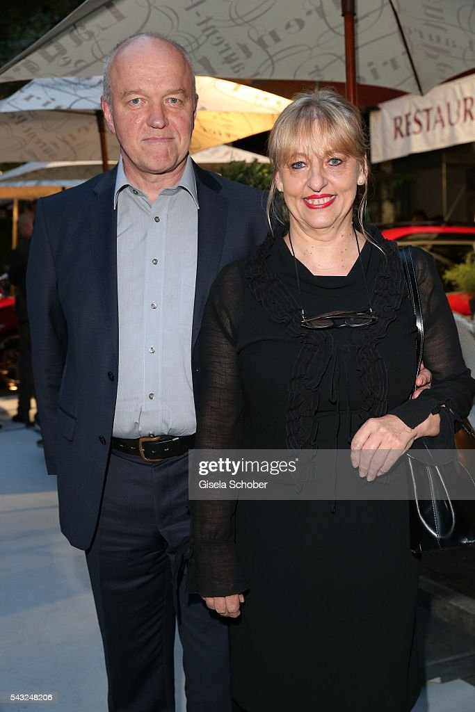 Johanna Bittenbinder and her husband Heinz Josef Braun during the Peugeot BVC Casting Night during the Munich Film Festival 2016 at Kaeferschaenke on June 26, 2016 in Munich, Germany.