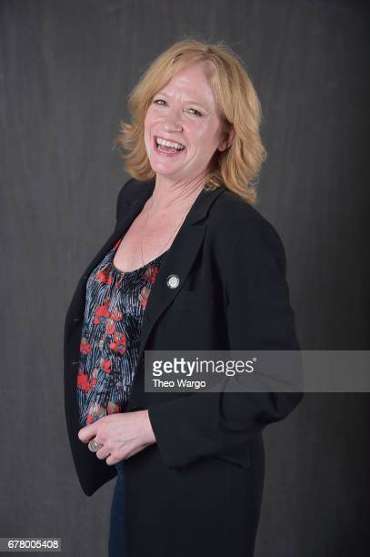 Johanna Day poses at the 2017 Tony Awards Meet The Nominees press junket portrait studio at Sofitel New York on May 3 2017 in New York City