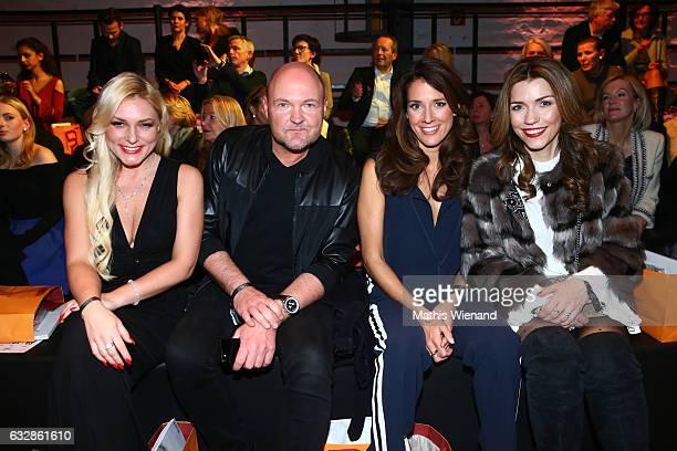 Johanna Gart Holger Abel Elena Bruhn and Annette Moeller attend the Breuninger show during Platform Fashion January 2017 at Areal Boehler on January...