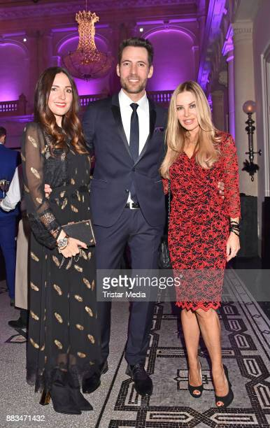 Johanna Klum Alexander Mazza and Xenia Seeberg attend the exhibition opening 'Sound of Passion' at Hotel De Rome on November 30 2017 in Berlin Germany