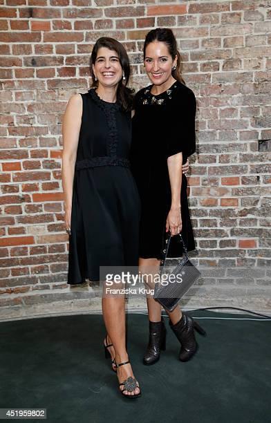Johanna Klum and Dorothee Schumacher attend the Schumacher show during the MercedesBenz Fashion Week Spring/Summer 2015 at Sankt Elisabeth Kirche on...