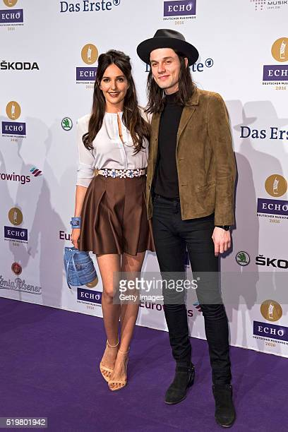 Johanna Klum and James Bay attend the Echo Award 2016 on April 7 2016 in Berlin Germany