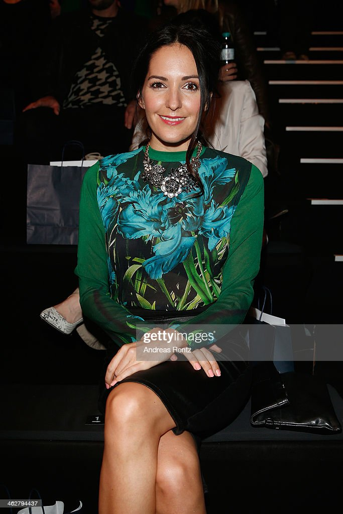 <a gi-track='captionPersonalityLinkClicked' href=/galleries/search?phrase=Johanna+Klum&family=editorial&specificpeople=636185 ng-click='$event.stopPropagation()'>Johanna Klum</a> arrives for the Marcel Ostertag show during Mercedes-Benz Fashion Week Autumn/Winter 2014/15 at Brandenburg Gate on January 15, 2014 in Berlin, Germany.