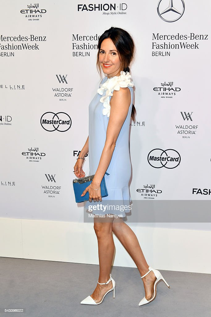 <a gi-track='captionPersonalityLinkClicked' href=/galleries/search?phrase=Johanna+Klum&family=editorial&specificpeople=636185 ng-click='$event.stopPropagation()'>Johanna Klum</a> attends the Ewa Herzog show during the Mercedes-Benz Fashion Week Berlin Spring/Summer 2017 at Erika Hess Eisstadion on June 28, 2016 in Berlin, Germany.