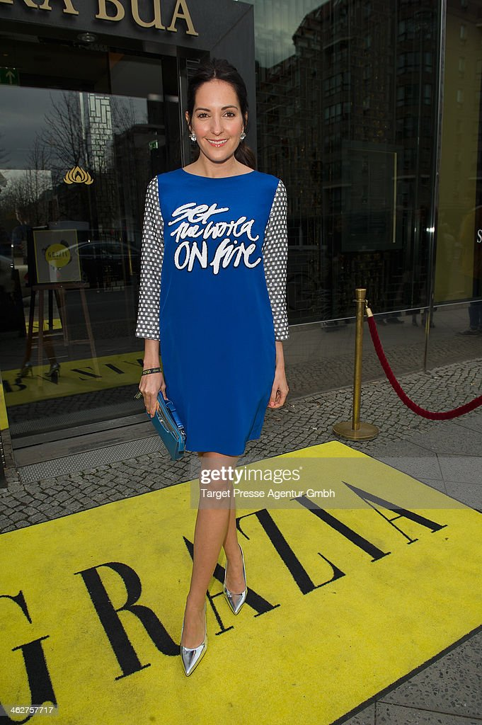 <a gi-track='captionPersonalityLinkClicked' href=/galleries/search?phrase=Johanna+Klum&family=editorial&specificpeople=636185 ng-click='$event.stopPropagation()'>Johanna Klum</a> attends the Grazia Pop Up during Mercedes-Benz Fashion Week Autumn/Winter 2014/15 at Sra Bua Restaurant on January 15, 2014 in Berlin, Germany.